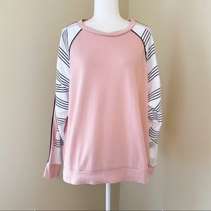 Pink Victoria's Secret Metallic Trim Sweatshirt -L
